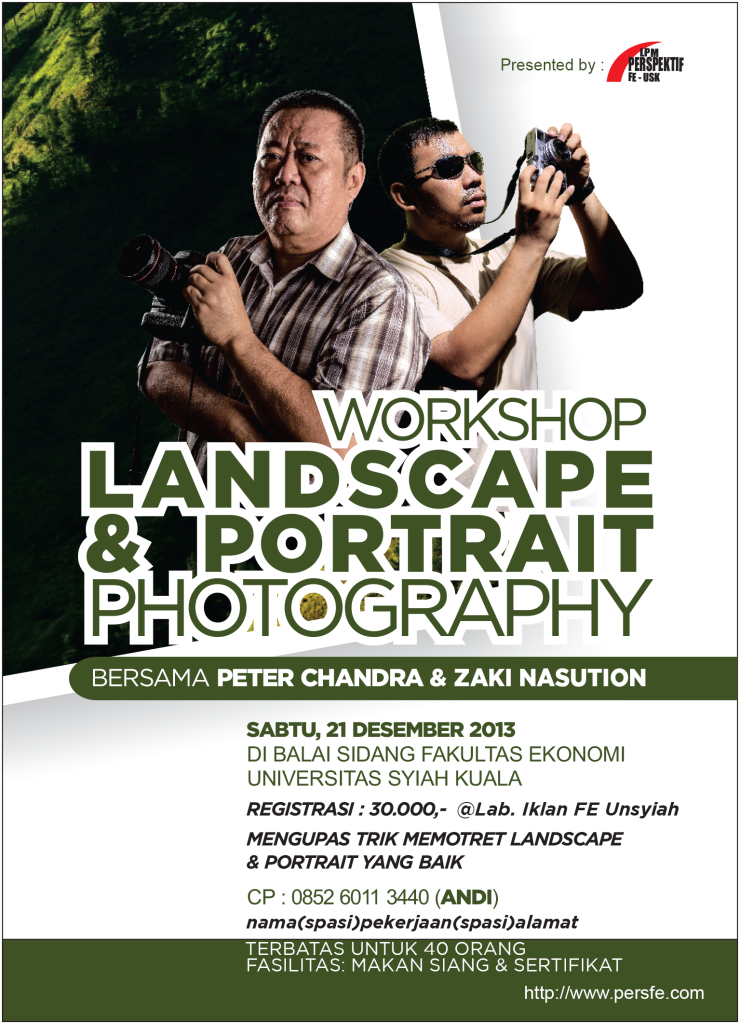 BROSUR WORKSHOP PETER CHANDRA UKURAN A4