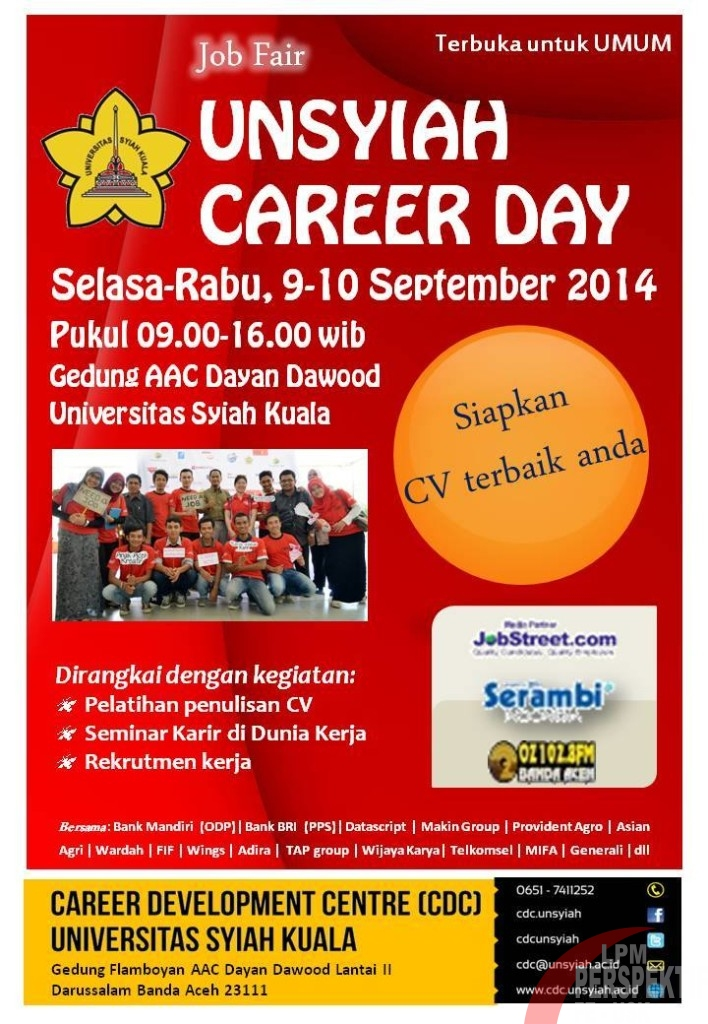 Unsyiah Akan Adakan Job Fair Unsyiah Career Day 2014