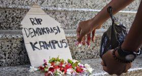 Matinya demokrasi kampus (Ilustrasi)