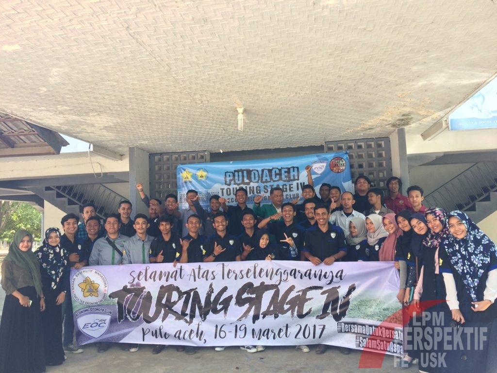 Foto bersama peserta Touring Stage IV EOC. Tahun ini EOC akan melakukan Touring ke Pulo Aceh (Syura/Perspektif)