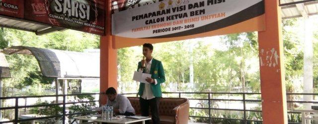 Calon Tunggal Ketua BEM FEB Unsyiah Sampaikan Visi Misi