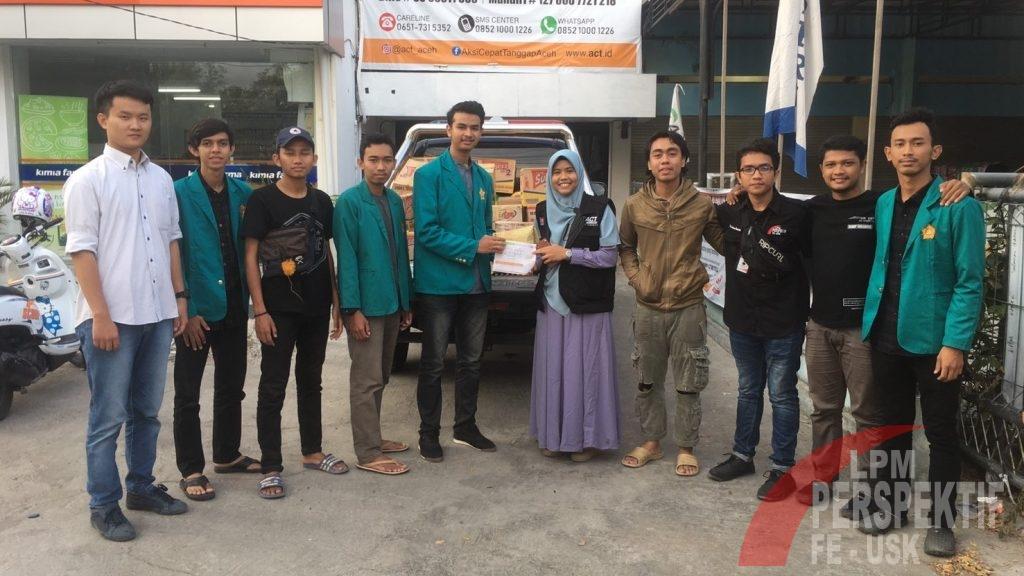 KBM Ekonomi Unsyiah Salurkan Bantuan Untuk Korban Sinabung