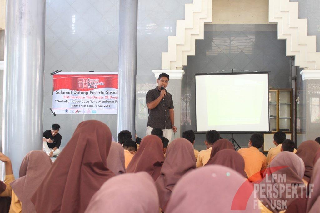 FIM Ajak Siswa Mtsn 2 Aceh Besar Jauhi Narkoba