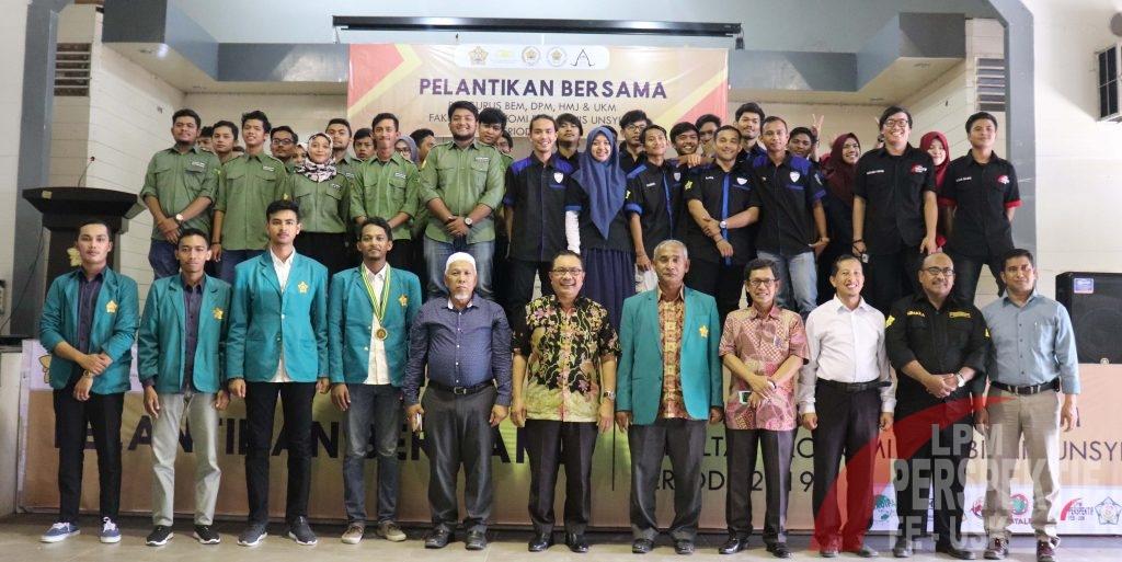 Dekan FEB Unsyiah Lantik Pengurus Baru  DPM,BEM, UKM, dan HMJ FEB Unsyiah  Periode 2019