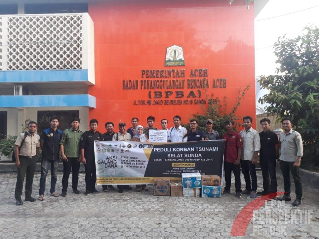 ORMAWA FEB Unsyiah serahkan bantuan untuk korban Tsunami Selat Sunda