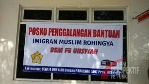 BEM FE Unsyiah Buka Posko Bantuan Untuk Imigran Muslim Rohingya