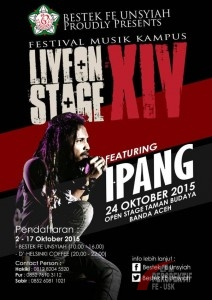Ipang Lazuardi akan Guncang Live On Stage XIV di Aceh