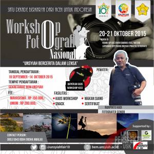Workshop Fotografi Nasional Akan Semarakkan Unsyiah Fair X