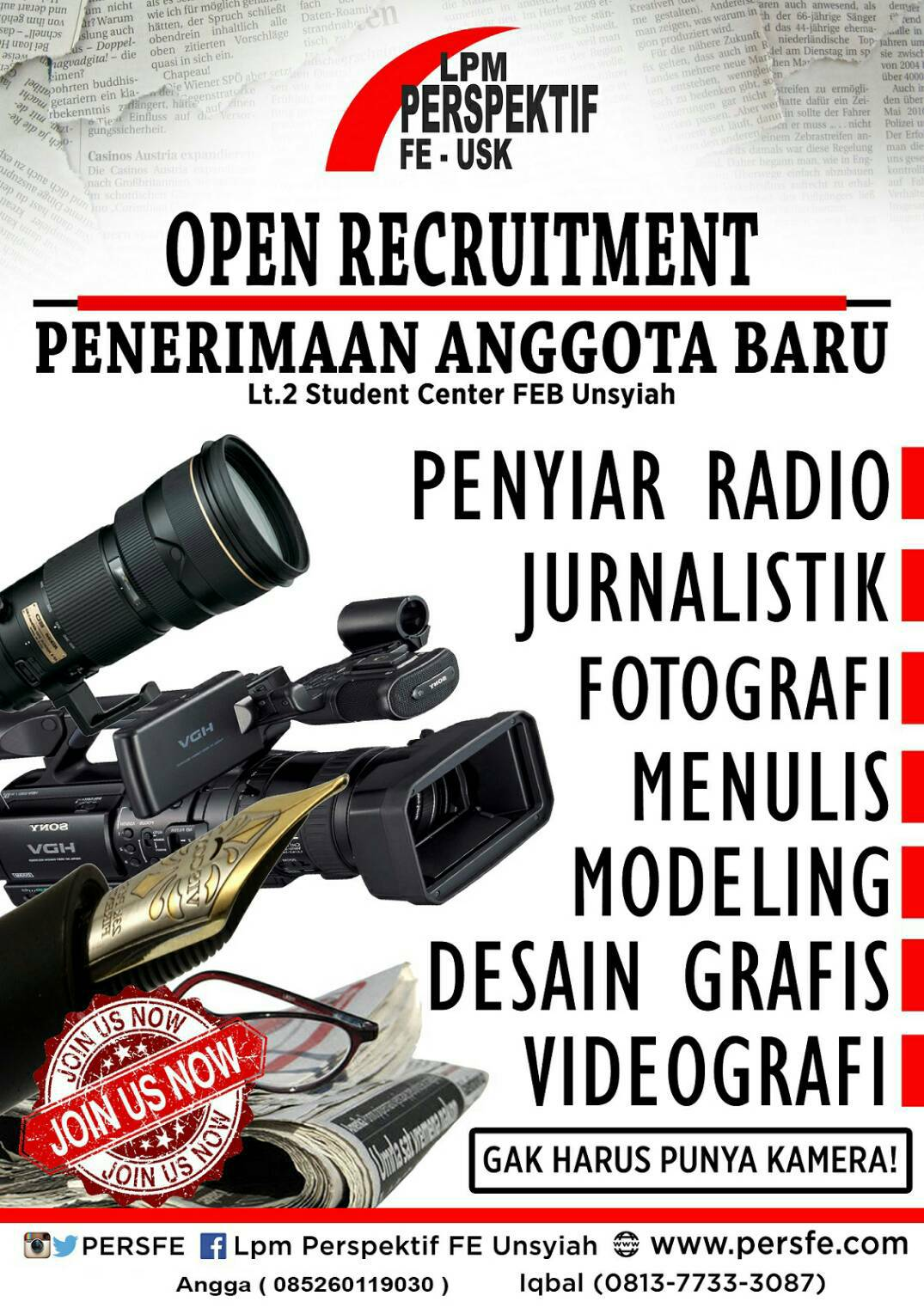 Open Recruitment UKM LPM Perspektif 2016
