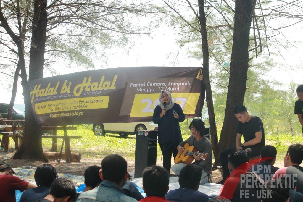Acara Halal Bi Halal HIMAKA diisi oleh penampilan akustik (Jo/Perspektif)