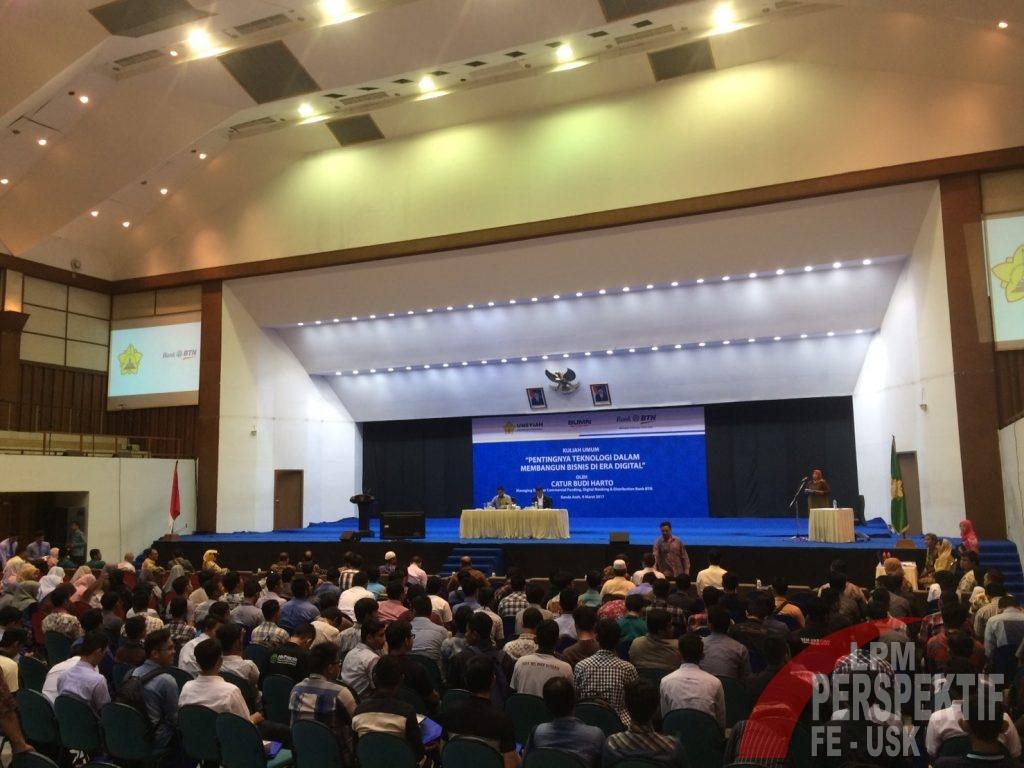 Kuliah Umum Bank BTN dihadiri oleh ratusan mahasiswa Unsyiah (Tata/Perspektif)
